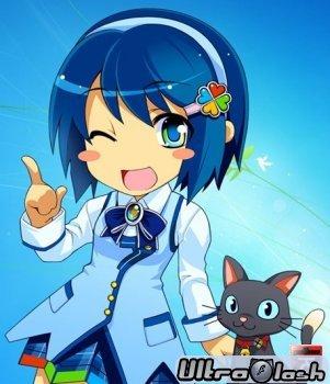Аниме тема для Windows 7 Нанами Мадобэ \ Windows 7 Anime Theme Nanami Mado ...
