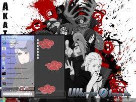 Наруто Акацуки Аниме темы для Windows 7