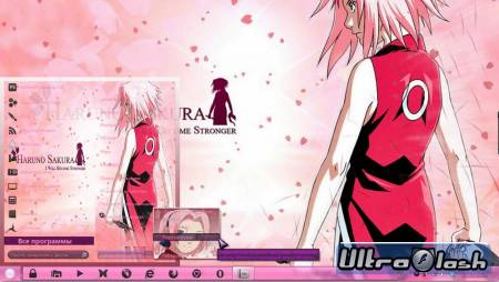 Тема Sakura by brasileno для Win 7